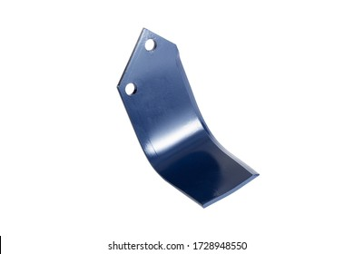 Agricultural Rotary Blade harvester blade for farm  placed on white isolated background equipment