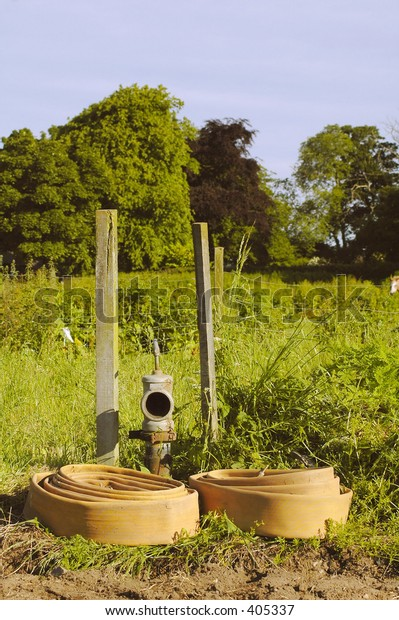 Agricultural water hose, scotland, 2005