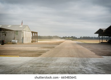 Agriculture airport in a farmers field