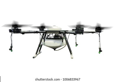 Agriculture drone fly isolated on white background. ( with clipping path)