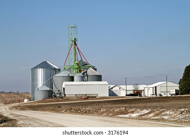 Agriculture farm in the Midwest
