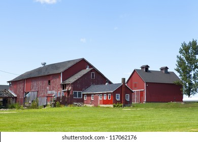 Agriculture Landscape With Old Barn