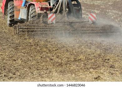 Agriculture, manure slurry for fertilization in the soil