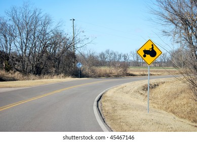 Agriculture Tractor Yield Sign