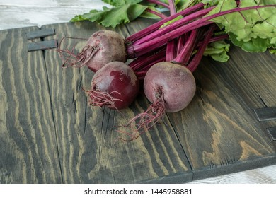 agriculture, vegetables, beet roots on a wooden table