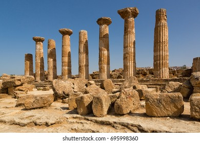 Agrigento, Italy - Valley of the Temples is an archaeological site in Agrigento (ancient Greek Akragas), Sicily, southern Italy.