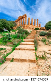 Agrigento, Sicily island, Italy: The Temple of Juno in the Valley of the Temple, Agrigento southern Italy on the island of Sicily