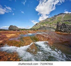 Agrio river, Patagonia, Neuquen. Land of dinosaurs. Provincial Park of Copahue.