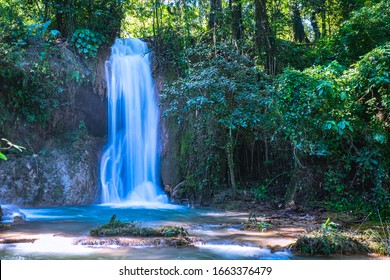 "Agua Azul means ""Blue Water"" waterfalls in Chiapas, Mexico"