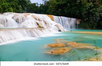 Wodospad Agua Azul, Meksyk