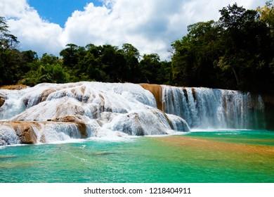 Agua Azul Waterfall, Yucatan, Mexico