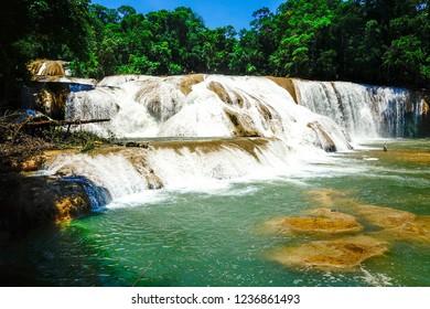 Agua Azul waterfalls, Chiapas,Mexico.