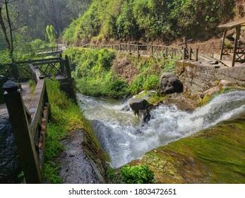 Agua de casacada junto a naturaleza