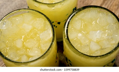 Agua de Pina Organica Fresca (fresh organic iced pineapple drink)