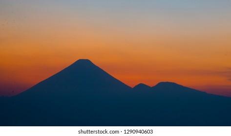 Agua Volcano from Guatemala City