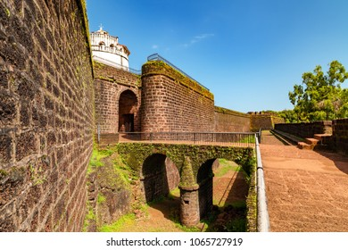 Aguada Fort - North Goa - Seventeenth-century Portuguese fort standing in Goa, India, on Sinquerim Beach