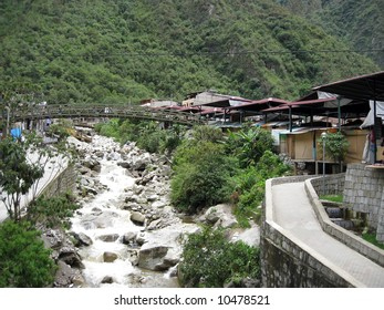 Aguas Calientes also called Machu Picchu town by the locals
