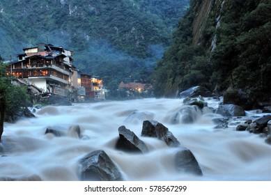 Aguas Calientes in Machu Picchu, Peru