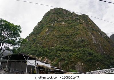 Aguas Calientes town in Cusco Peru