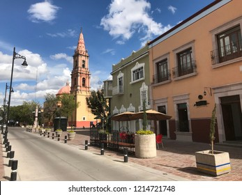 Aguascalientes, Mexico. 10/20/2018. Temple of San José built in 1684. Simple architecture with neoclassical finishes