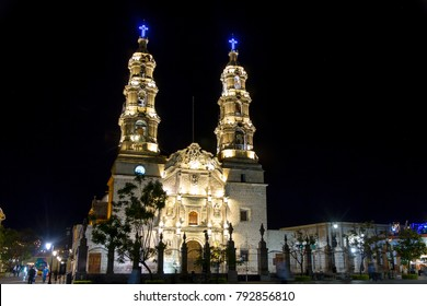 AGUASCALIENTES, MEXICO - CIRCA OCTOBER 2017: Nuestra Senora de la Asuncion Cathedral Aguascalientes, Mexico