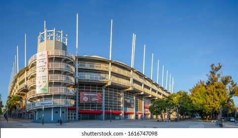 Aguascalientes, Aguascalientes, Mexico - November 23, 2019: The Stadium Victoria Aguascalientes in the morning, home to the Mexican football team Necaxa.