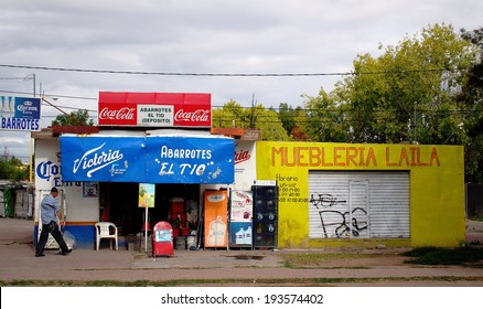 AGUASCALIENTES, MEXICO - SEPTEMBER 7: Grocery store in Aguascalientes city on September 7, 2013. Approximately 8.5 million mexicans work in retail and wholesale sector, about 20% of labor population.