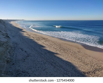 Agucadoura beach, in a winter sunny day, Portugal.