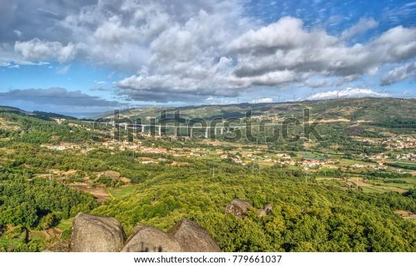 Aguiar valley in Vila Pouca de Aguiar, Portugal