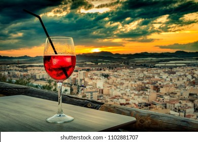 Aguilas,spain at sunset