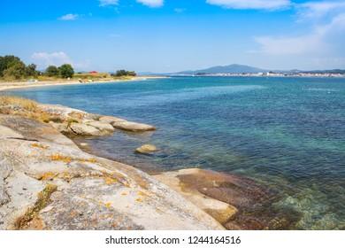 Aguillon beach in Arousa Island