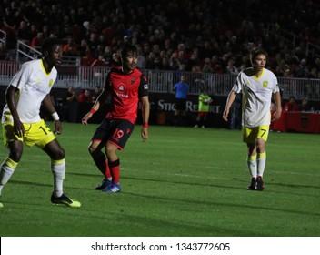 AGUINAGA José  midfielder for Phoenix Rising FC at Phoenix Rising Soccer Complex in Phoenix,AZ/USA March 16,2019.