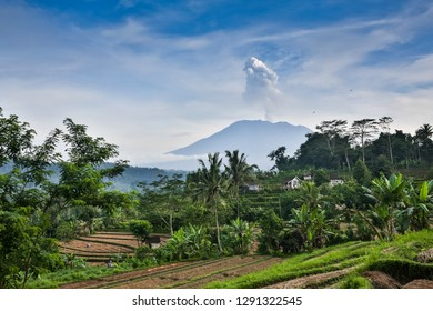 Agung mountain from Lempuyang Temple in Bali