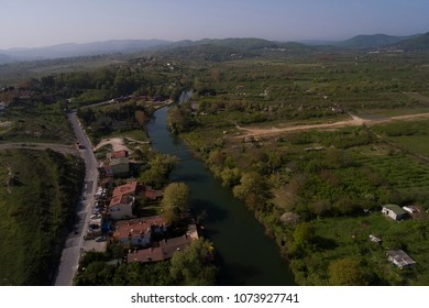 Agva is small village in Istanbul. Shot with drone.