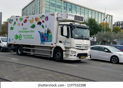 AH Company Truck At Amsterdam The Netherlands 2018
