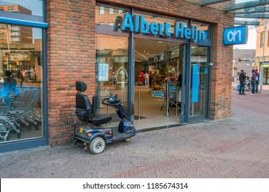 AH Supermarket At The Bijlmerdreef Street Amsterdam The Netherlands 2018