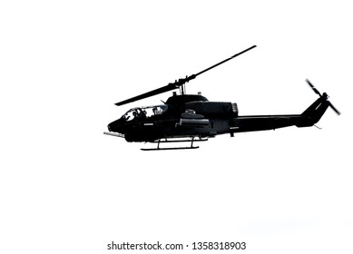 """AH-1 Cobra"" takeoff Return on on white background.2019/3/30 in Taiwan"