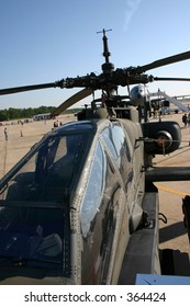 AH-64 Apache helicopter cockpit at Andrews Air Force Base