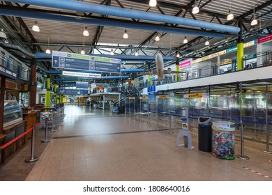 Ahden, Germany - August 8, 2020: Paderborn Lippstadt Airport PAD Terminal building in Germany.