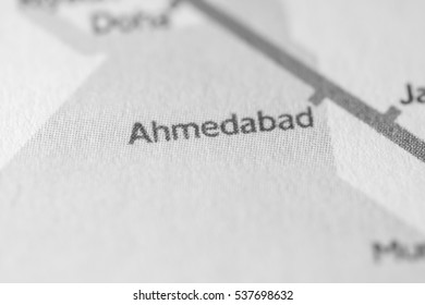 Ahmedabad, Asia on a geographical map.