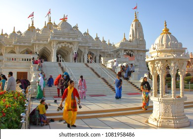 AHMEDABAD, GUJARAT, INDIA - DECEMBER 21, 2013: A jain temple