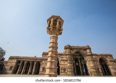 Ahmedabad, Gujarat, India – January 15, 2015 : Jama Masjid is a mosque in Ahmedabad built in 1424 by Mughal Emperor Ahmad Shah. Ahmedabad, Gujarat, India