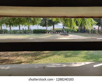 Ahmedabad, Gujarat / India- January 5 2019: A view of the Mahatma Gandhi Ashram in Sabarmati, Ahmedabad
