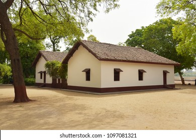 AHMEDABAD, GUJARAT, INDIA, MAY 14, 2018: Sabarmati Ashram where Mahatma Gandhi spent his time during Independence movement to meet with people and organize his non-violent struggle to attain freedom.
