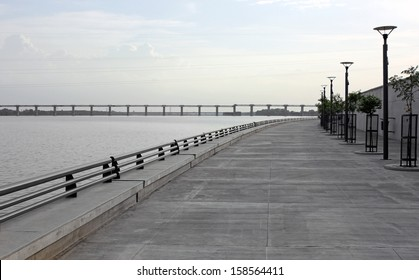 AHMEDABAD, GUJARAT/ INDIA-AUGUST 19 : View of Sabarmati Riverfront on August 19, 2012 in Ahmedabad.