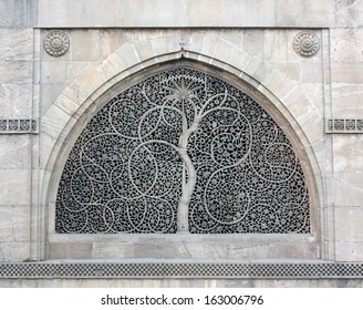 AHMEDABAD, GUJARAT/ INDIA-JANUARY 10: Sidi Saiyyad Mosque on January 10, 2013 in Ahmedabad. World famous window grille known for its intricate stone carving. Created in 1572 A.D.