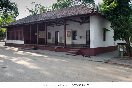 Ahmedabad, India - November 26, 2016: A view of Gandhi Ashram. Gandhi Asharam, also called Sabarmati Ashram was one of the residence of Mahatma Gandhi