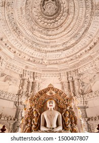Ahmedabad: July 2019: Beautiful view of a Jain temple near Ahmedabad. (India)