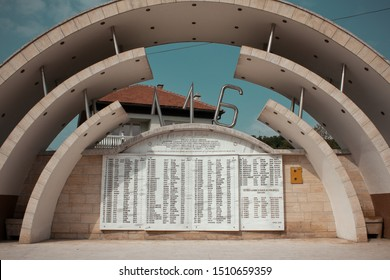 ahmici,Bosnia and Herzegovina- September 11,2019: Monument museum for bosnian people who killed during war