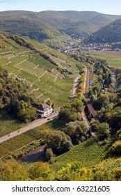 Ahrtal (Ahr Valley) vineyards near Rech
